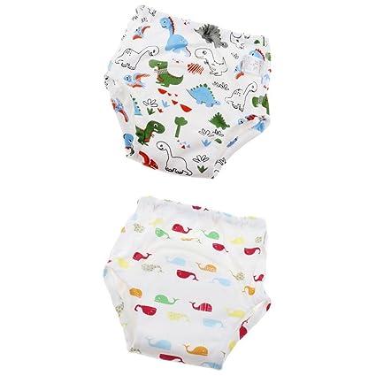 MagiDeal 2 Piezas Pantalones De Entrenamiento Para Bebés Pantalones De Aprendizaje Pañales Lavables