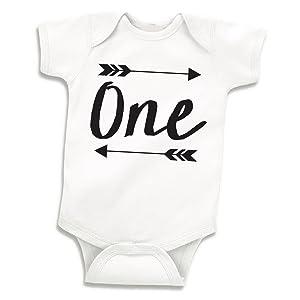 Bump and Beyond Designs Boy Birthday Shirt, Baby Boy First Birthday Bodysuit (12-18 Months)