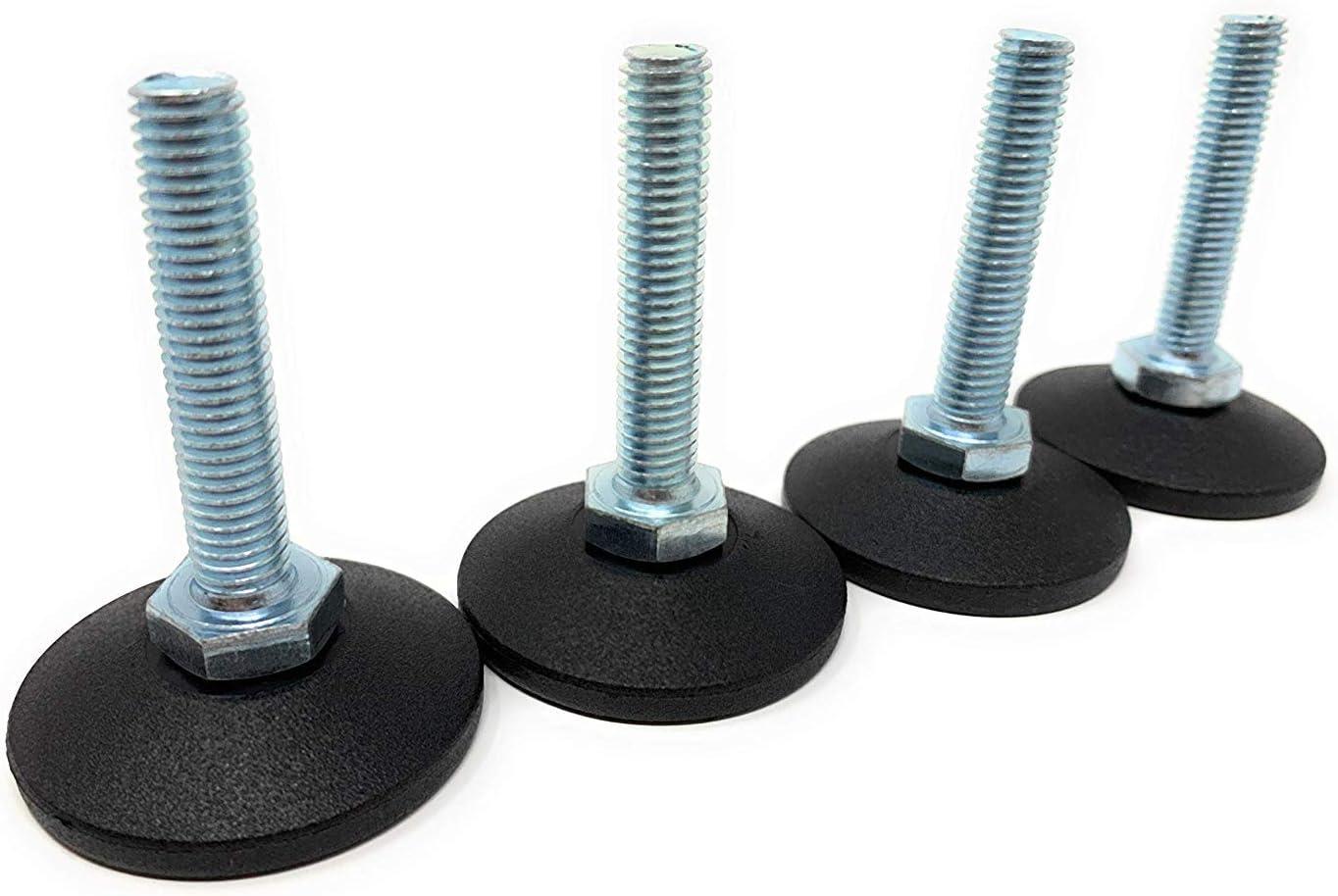 Juego de 12 almohadillas de hierro en forma de L para patas de muebles color negro JIHUOO protectores de suelo