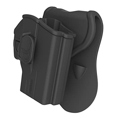 Taurus Millennium G2 Paddle Holster Fit PT111 PT132 PT138 PT140 PT145 PT745, OWB Tactical Pistol Holsters with Trigger Release Adjustable Cant, Black