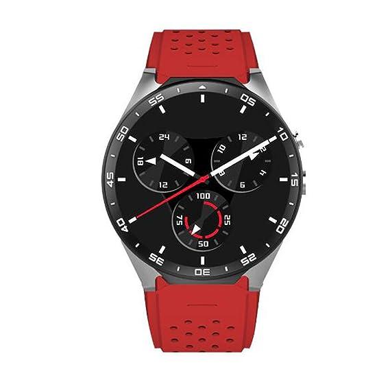 Smart Watch Reloj Inteligente Android Reloj de posicionamiento de Tarjeta de Pantalla Redonda WiFi Monitor de
