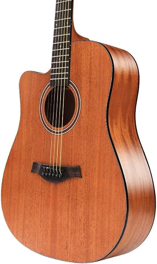 YJFENG Zurdo Guitarra Acústica Cuerdas De Alambre Suave Sonido ...