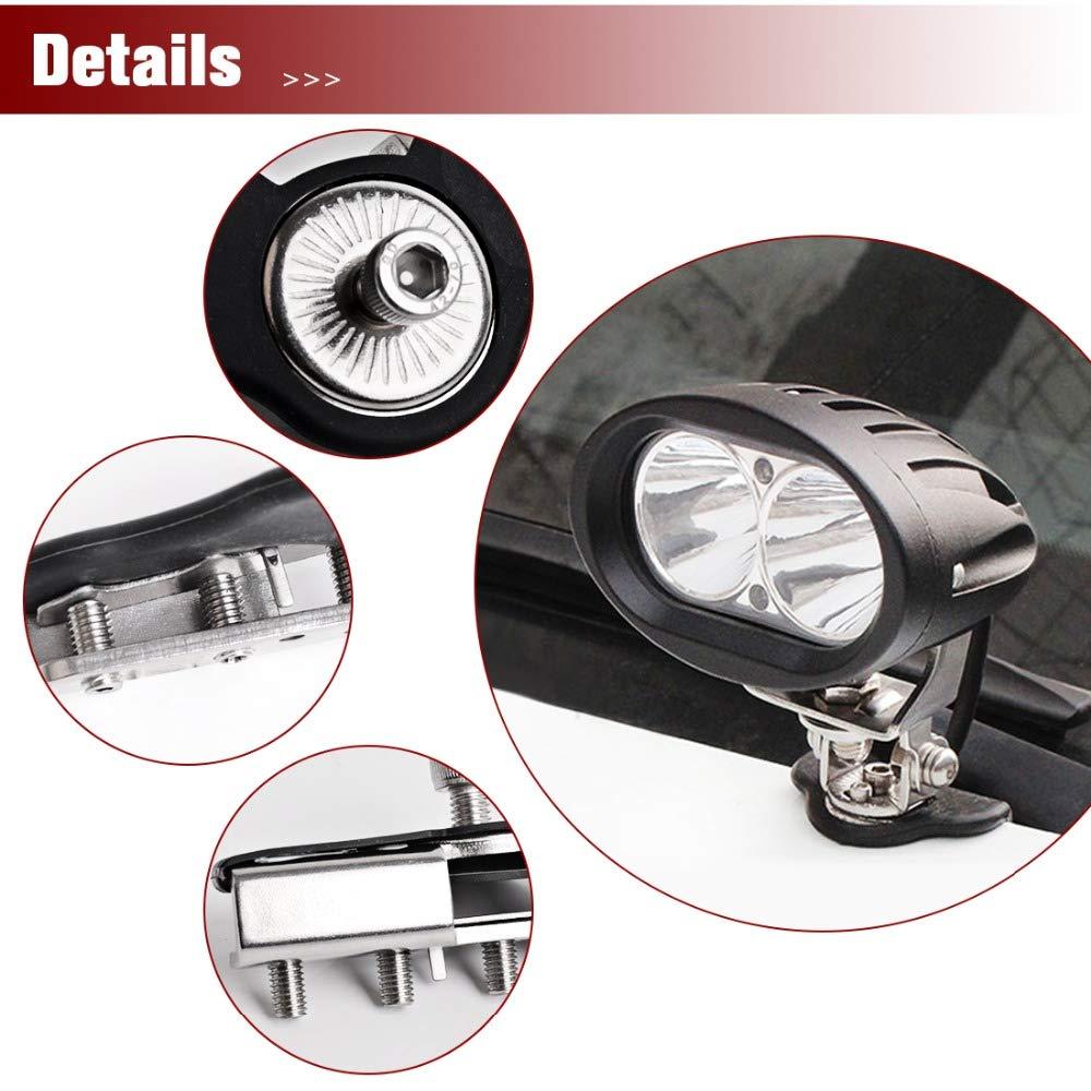 YGL 2pcs Universale Supporto per Barra Luminosa da Lavoro LED per Auto Supporto per Morsetto a Colonna Pilastro per Truck//Barca//Bus//ATV//SUV