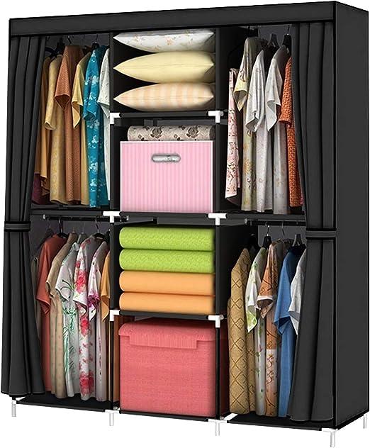Amazon Com Youud Wardrobe Storage Closet Clothes Portable