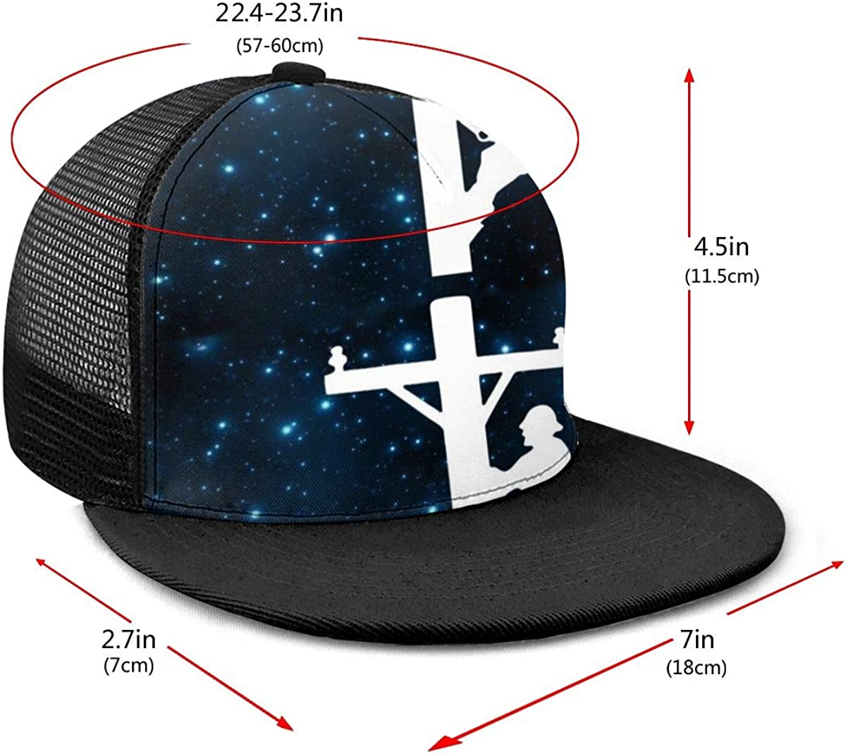 Lightweight Mesh Back Trucker Hat for Unisex Mens and Womens 100/% Polyester Workers Climbing Telephone Poles Mesh Cap