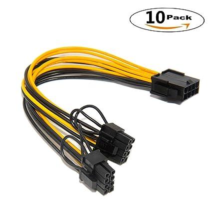 Amazon com: 8 Pin to dual PCIe 8 Pin (6+2) Graphics Card PCI