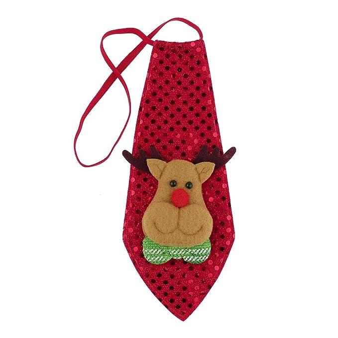 CHICTRY Corbata de Navidad Santa Claus para Niños Adultos ...
