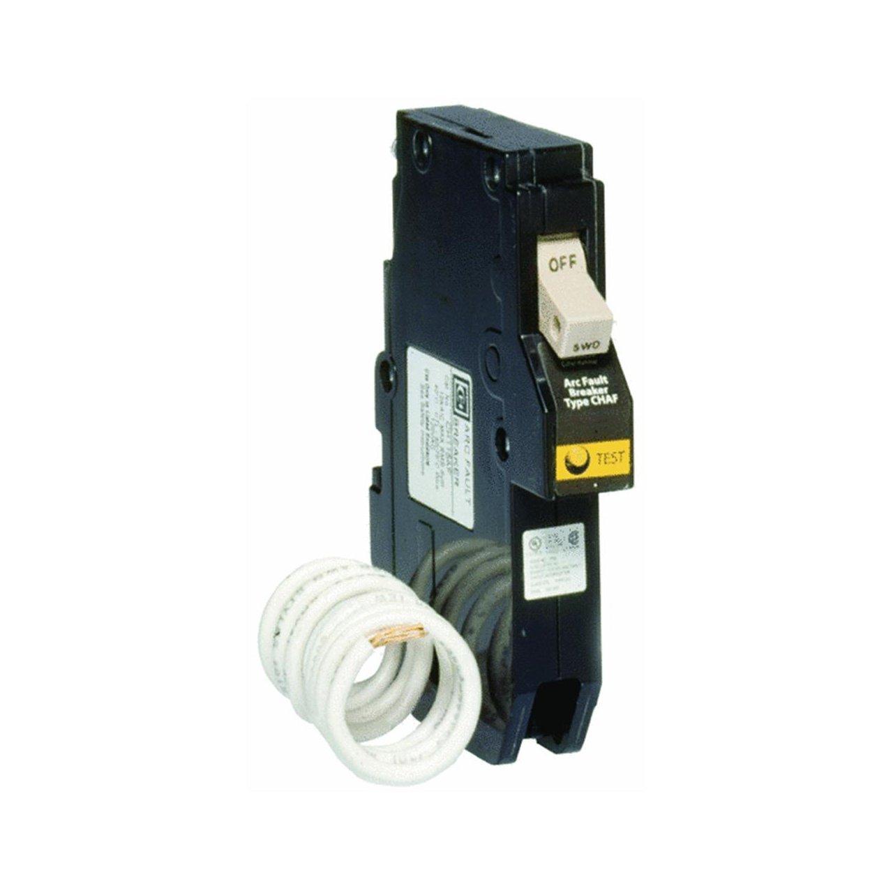 Eaton CH115AF Ch Series Single-Pole Arc Fault Breaker, 120 Vac, 15 Amp, 1' x 1' x 1' 1 x 1 x 1
