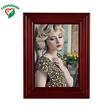 Amazon Cheap Size A3 Wooden Picture Frame Cherry Color Family