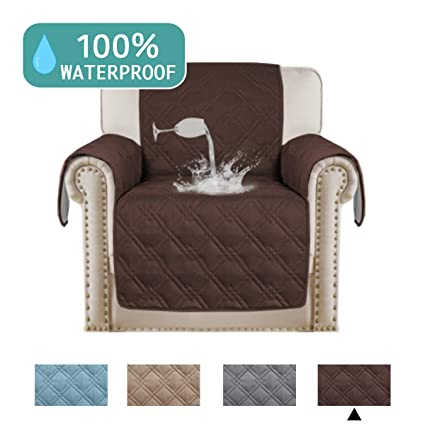Charmant Turquoize 100% Waterproof Chair Slipcover Slip Resistant Chair Cover Pets  Friendly Quilted Furniture Protector With