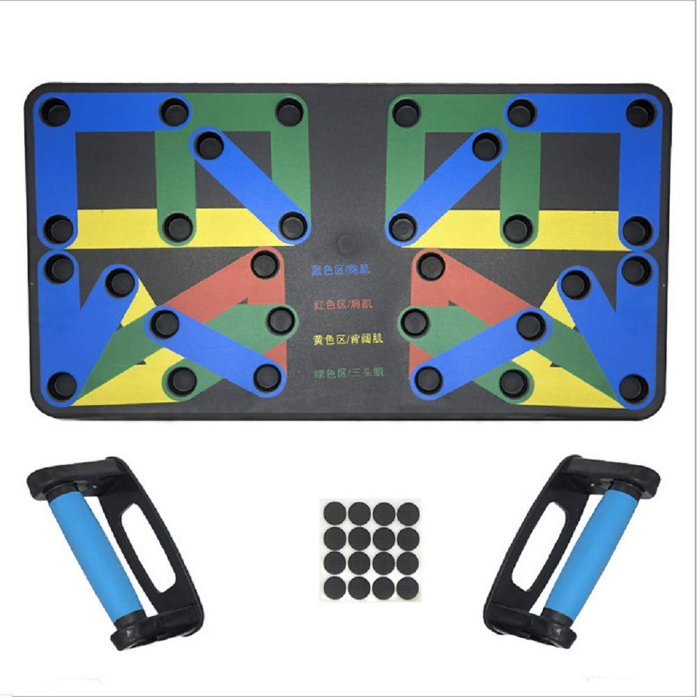Push Up Physical Activity Exercise Workout Training Stand Board Pad Handle Grip Equipment Tool Device System for Home Gym (14 preset Positions)