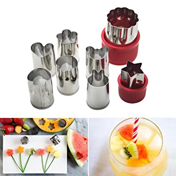 Cortadores niceEshop(TM) de diferentes figuras para verduras, galletas o frutas, estilo3, 3.8x5.5cm/2.5x4cm: Amazon.es: Hogar