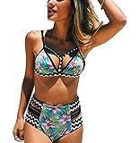 CoCo Fashion Womens Push up Padded Colorblock Bikini Swimwear Swimsuit