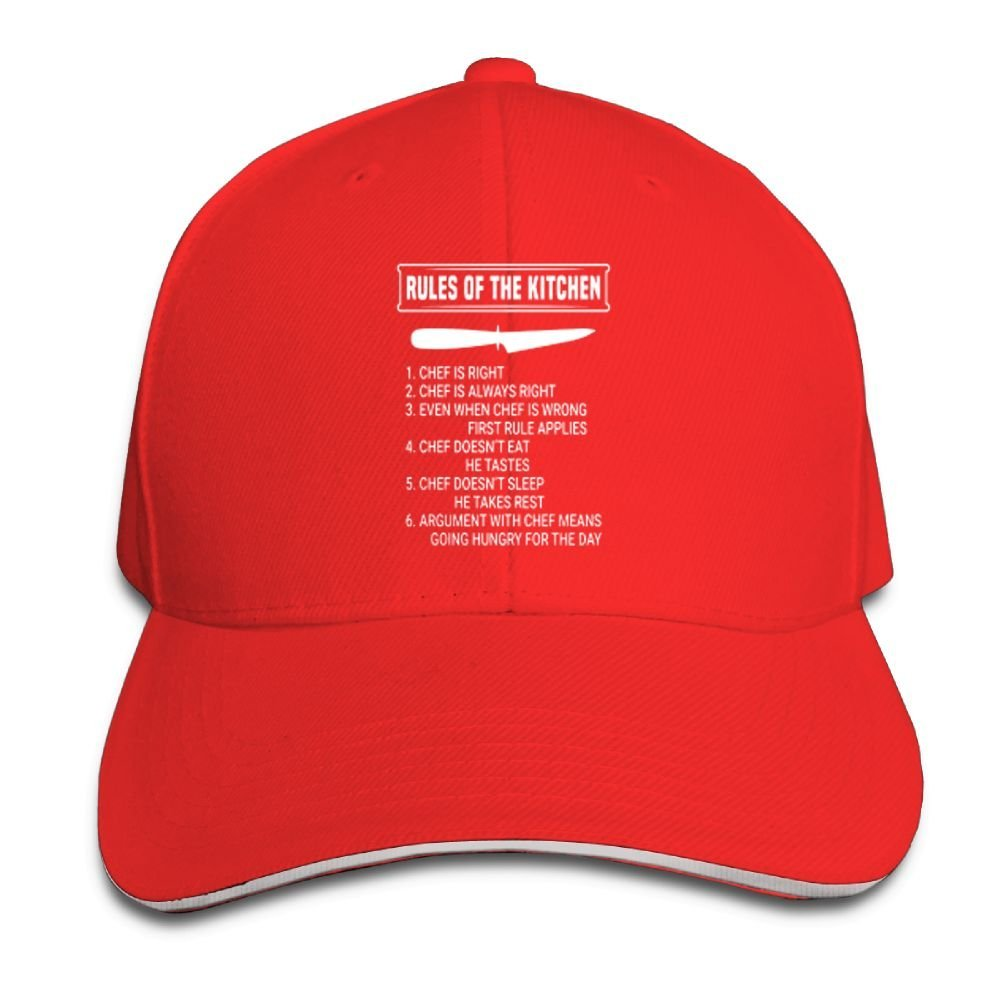 Rules of The Kitchen Chef Baseball Caps Adjustable Back Strap Flat Hat