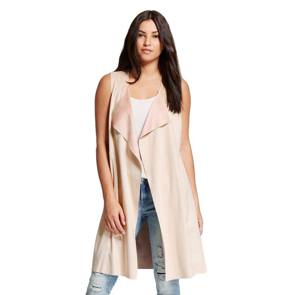Bagatelle City Women's Faux Suede Vest Duster (Large, Desert)