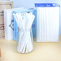 100Pcs Disposable Flexible Straws Plastic Drinking Supplies