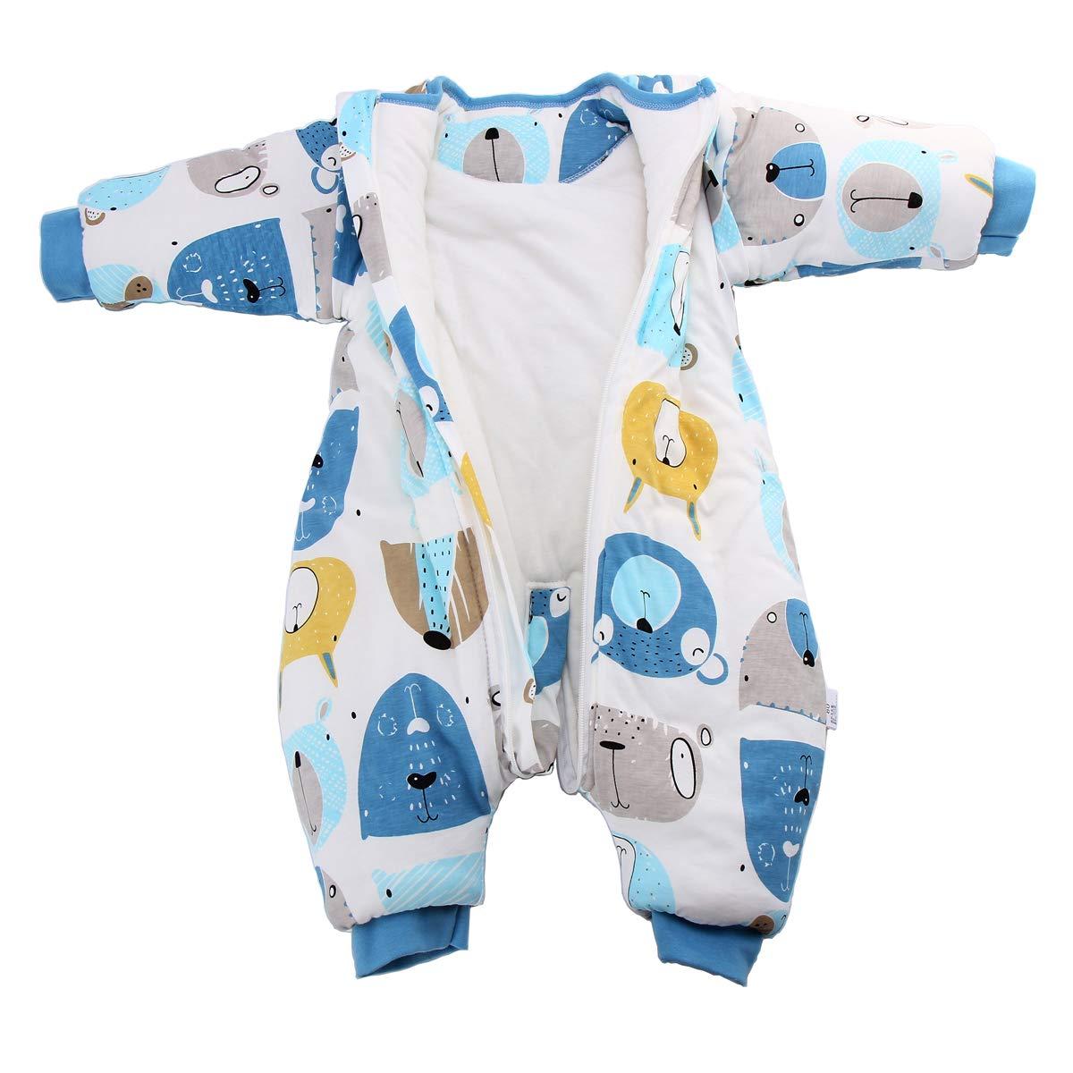 Amazon.com: MIKAFEN - Saco de dormir para bebé con piernas ...
