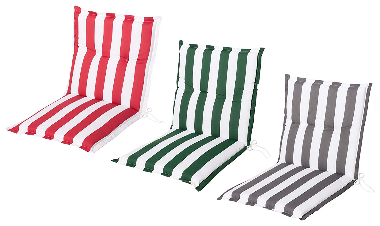 Schwar Textilien Coj/ín para Silla de jard/ín Respaldo bajo dise/ño de Rayas 3 Colores