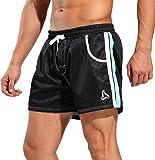 SILKWORLD Men's Running Bodybuilding Shorts with Mesh Lining and Pockets