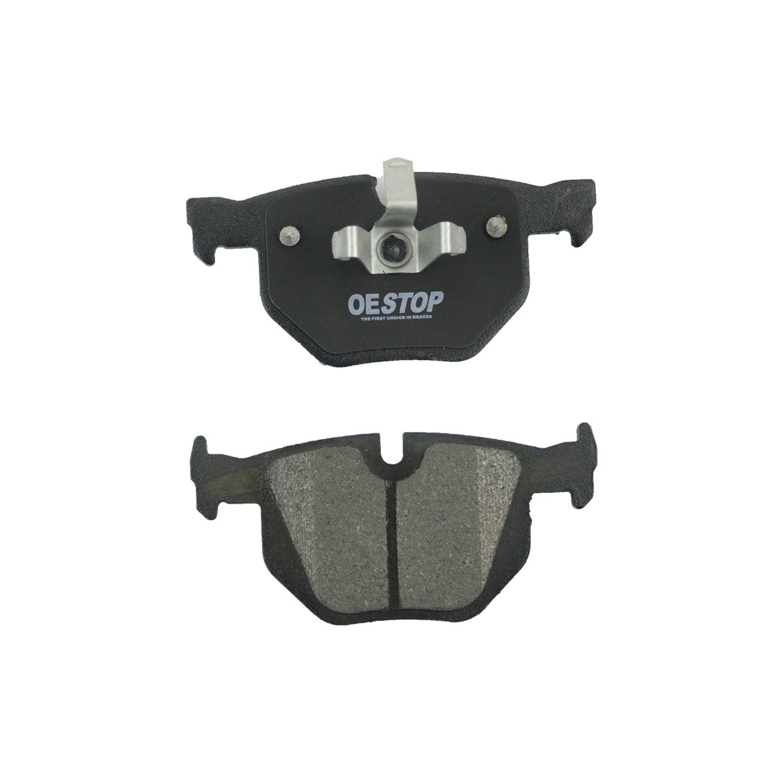 Rear OE STOP OS1170 Semi-Metallic Premium Brake Pad Set With Installation Hardware 1 Pack