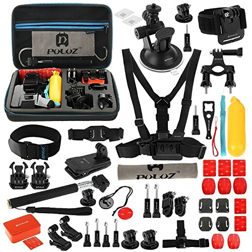 PULUZ 53 in 1 Accessories Combo Bundle Kit with EVA Case for