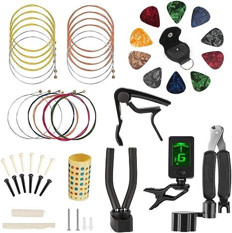 Kit de cambio de cuerdas de guitarra, Kungber Kit de accesorios de ...