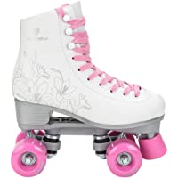 Patins 4 Rodas Feminino Gonew Quad Retrô - Branco+rosa - 38