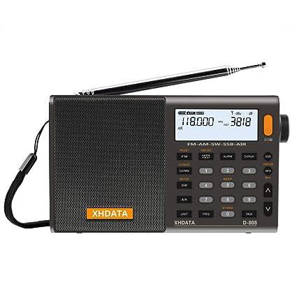 Amazon.com: XHDATA D-808 Portable Digital Radio FM Stereo/SW/MW/LW
