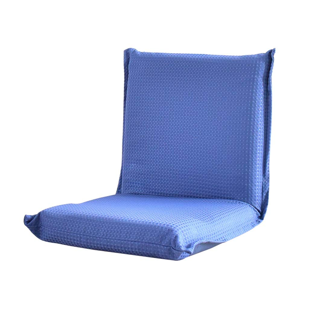 color : Blue, UnitCount : 1 pack blue//Red 43cm Hwts Folding chair Lazy Sofa Creative Single Sofa for Tatami Balcony 43 40