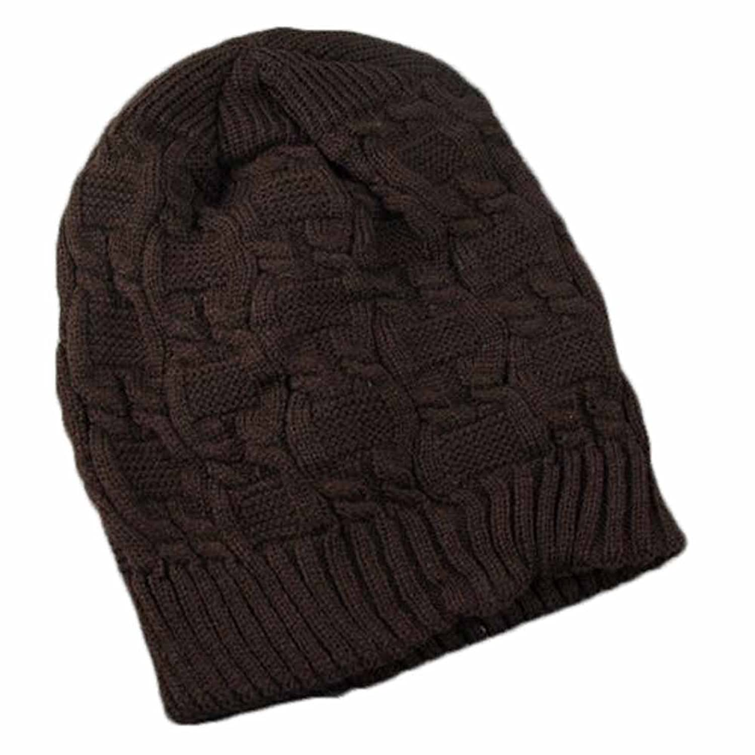 Surker Korean Small Twist Knitted Thickened Double-Layer Hat CL02019
