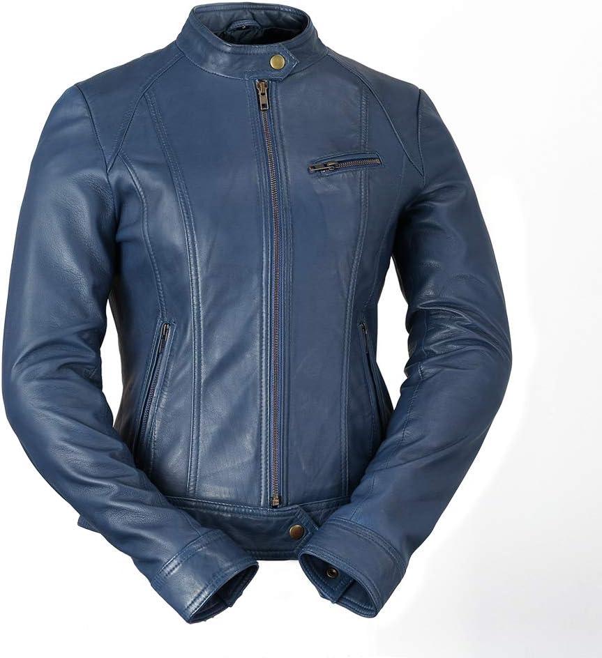 Black, Large Whet Blu Womens Clean Moto Jacket