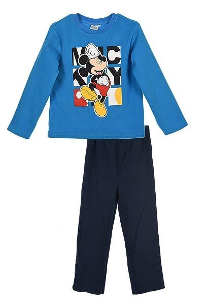 Mickey Mouse - Camiseta de pijama - para niño azul 4 años