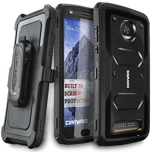 Moto Z2 Play Case, covrware [Aegis Series] W/Built-in [Protector de visualización] Heavy Duty Full-Body Rugged cartuchera...