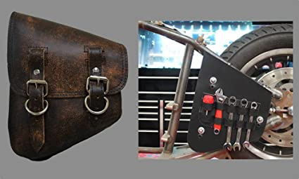 8037d56ae66a Image Unavailable. Image not available for. Color  La Rosa Design All  Softail Models Left Side Bolt-on Solo Saddle Bag ...