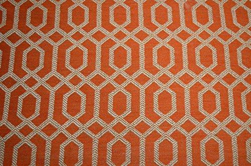 upholstery fabric orange - 8