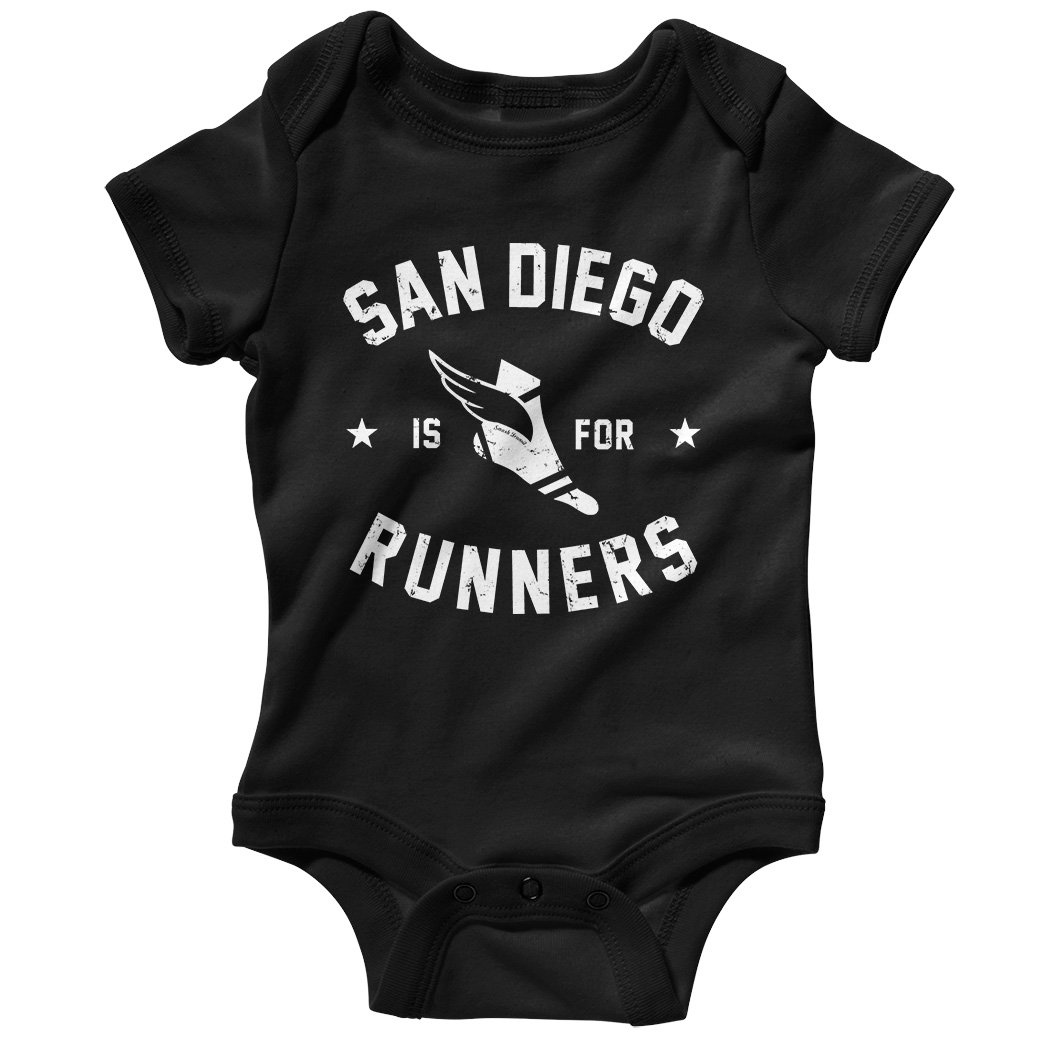 Smash Transit Baby San Diego is for Runners Creeper