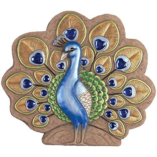 Carson Home Accents Peacock Decor Stepping Stone (11106)