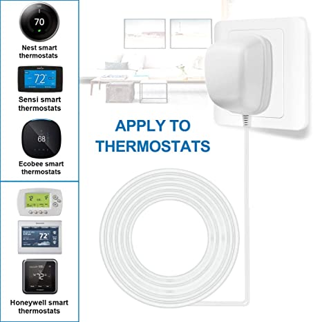 24 Volt Power Adapter/Transformer,C-Wire Adapter Thermostat,Compatible Sensi Thermostat Wiring on