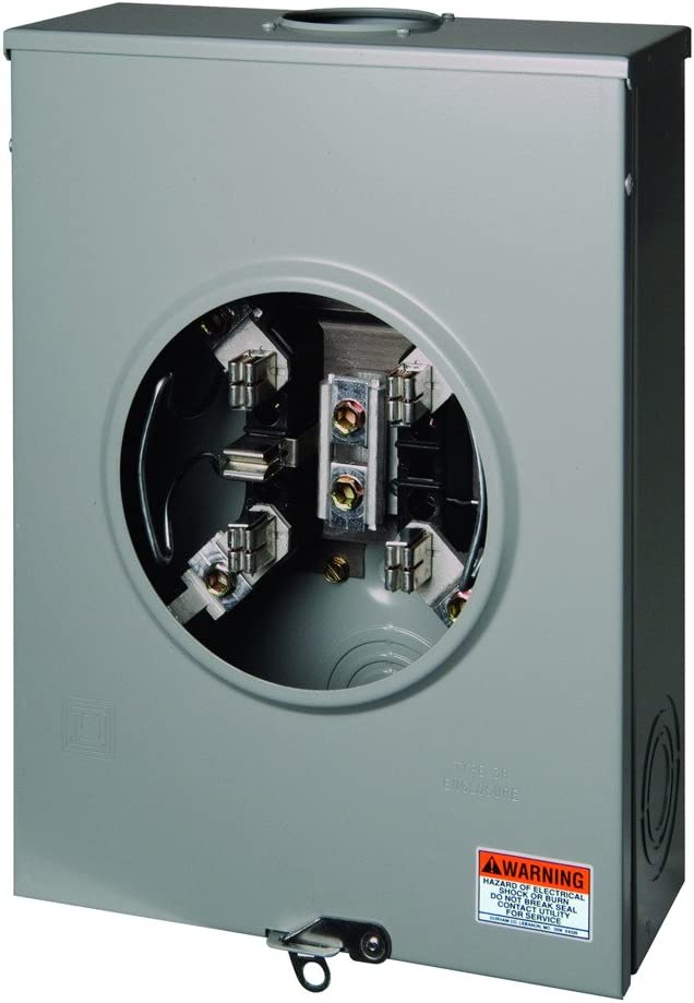 Square D by Schneider Electric UGHTRS213B 200A Ringless Meter Socket With Horn Bypass (5-Jaw)