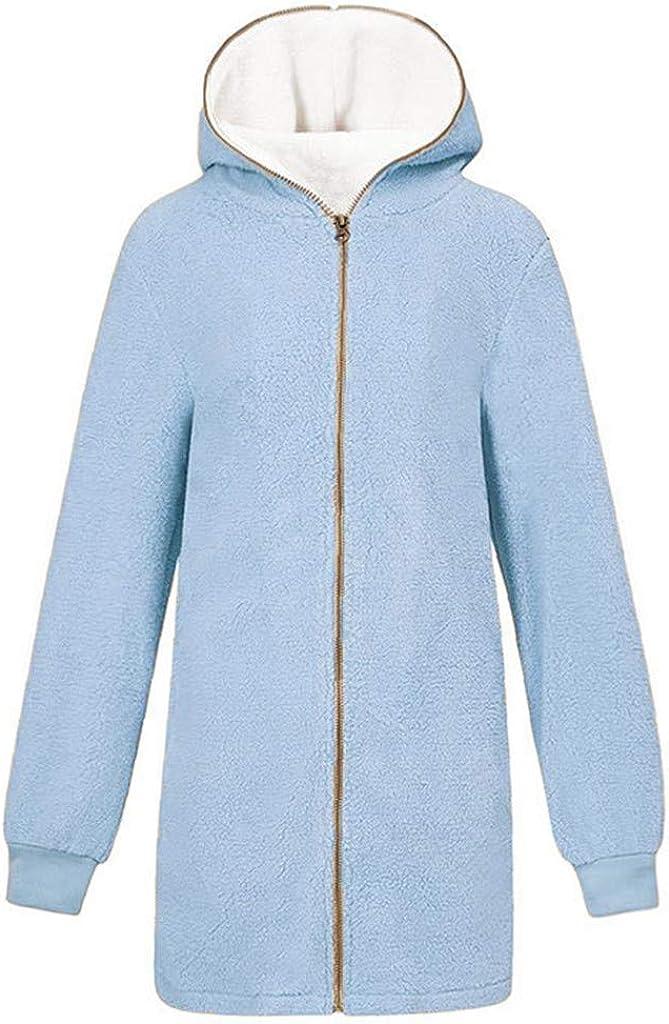 Lazzboy Coat Jacket Womens Sherpa Fluffy Fleece Lined Ladies Zip Warm Hoodie Size 8-22 Oversized Plus Size