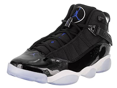 low priced 4b154 61807 Jordan Men s 6 Rings, Black Hyper Royal-White, 11 M US