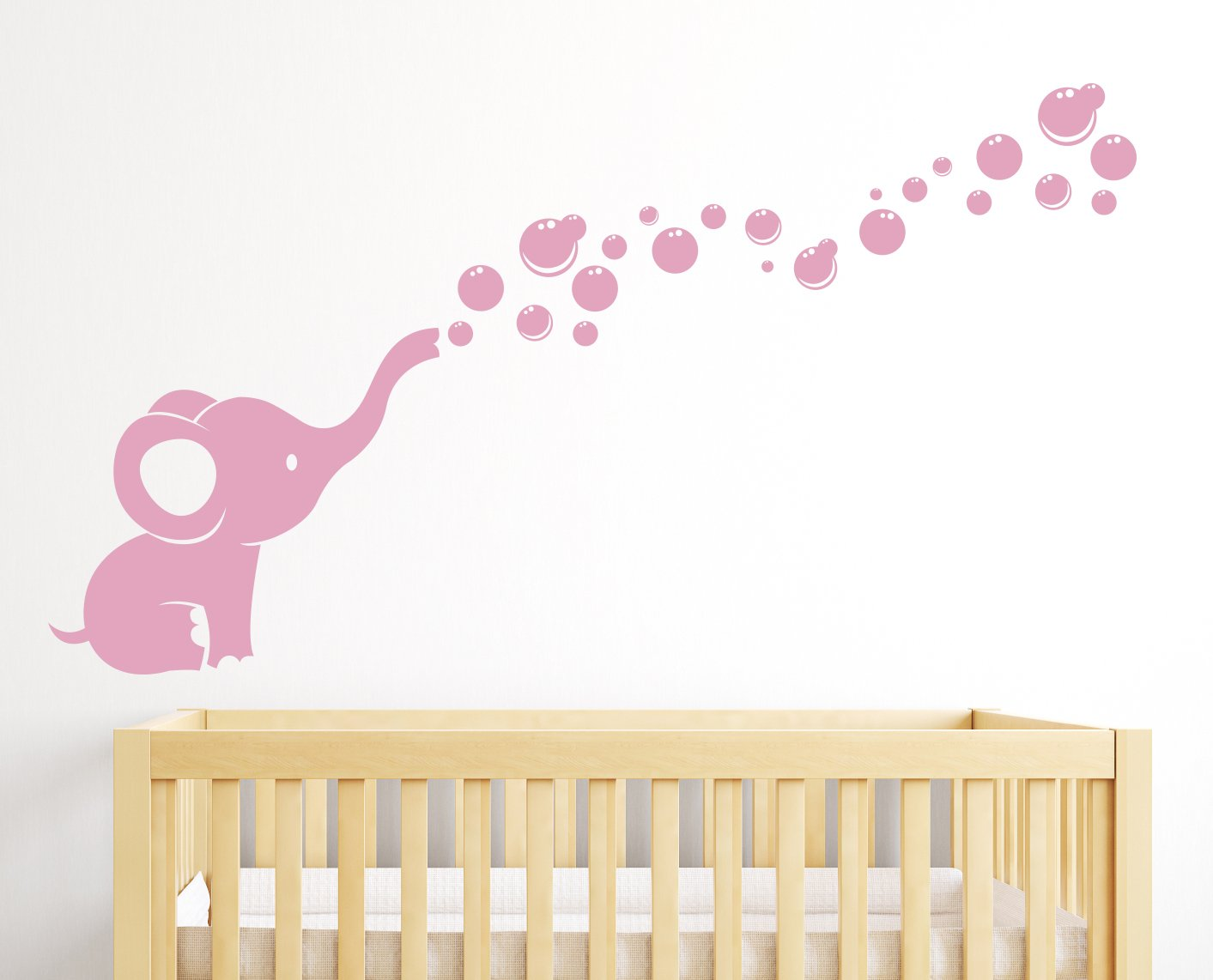 Amazoncom Elephant Bubbles Nursery Wall Decal Room Decor White - Baby room decals