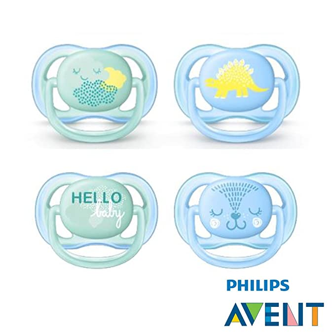 Philips AVENT Ultra Soft Air Chupete 0 - 6 Hello Boy - Friendly Dino ...