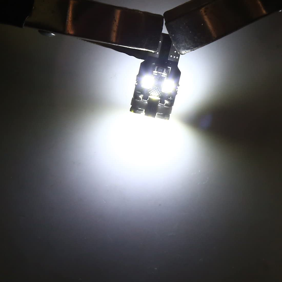 sourcing map 12Pz T10 Bianco 13 1210-SMD LED Canbus Auto Luce Pannello Interno W5W 192 158 194