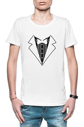 Falso Tux Smoking Traje Corbata Hombre Camiseta Blanco Todos ...