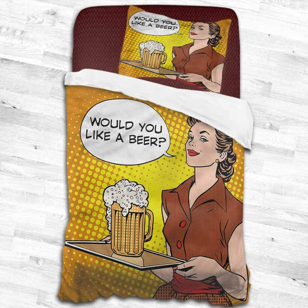 """dsdsgog Bed Sheet Set - Full Man Cave,The Waitress with a Tray 53""""x79"""" Twin, Full, King Bed"""