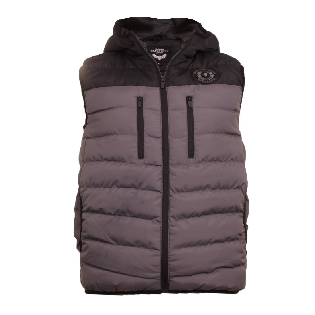Brave Soul Men's Gillet Blackburn Hugo CHADDERTON Midnight Body Warmer Puffer