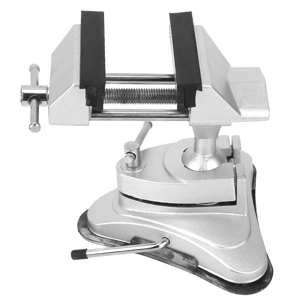 Vacuum Base Vise Aluminium Alloy Miniature Vise 360 Degrees Rotation Household Table Vise Machine Tool