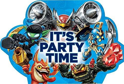 Skylanders Invitations (8 Pack) - Party Supplies