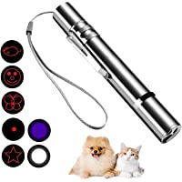 Cat Laser Pointer Toy, Upgraded 7-in-1 Indoor Interactive Kitten Cat Toy, USB Rechargeable LED Light Pointer, Toy for…